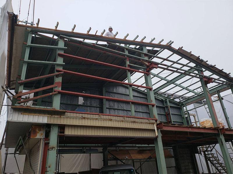 彦根市鉄骨造2階建解体工事