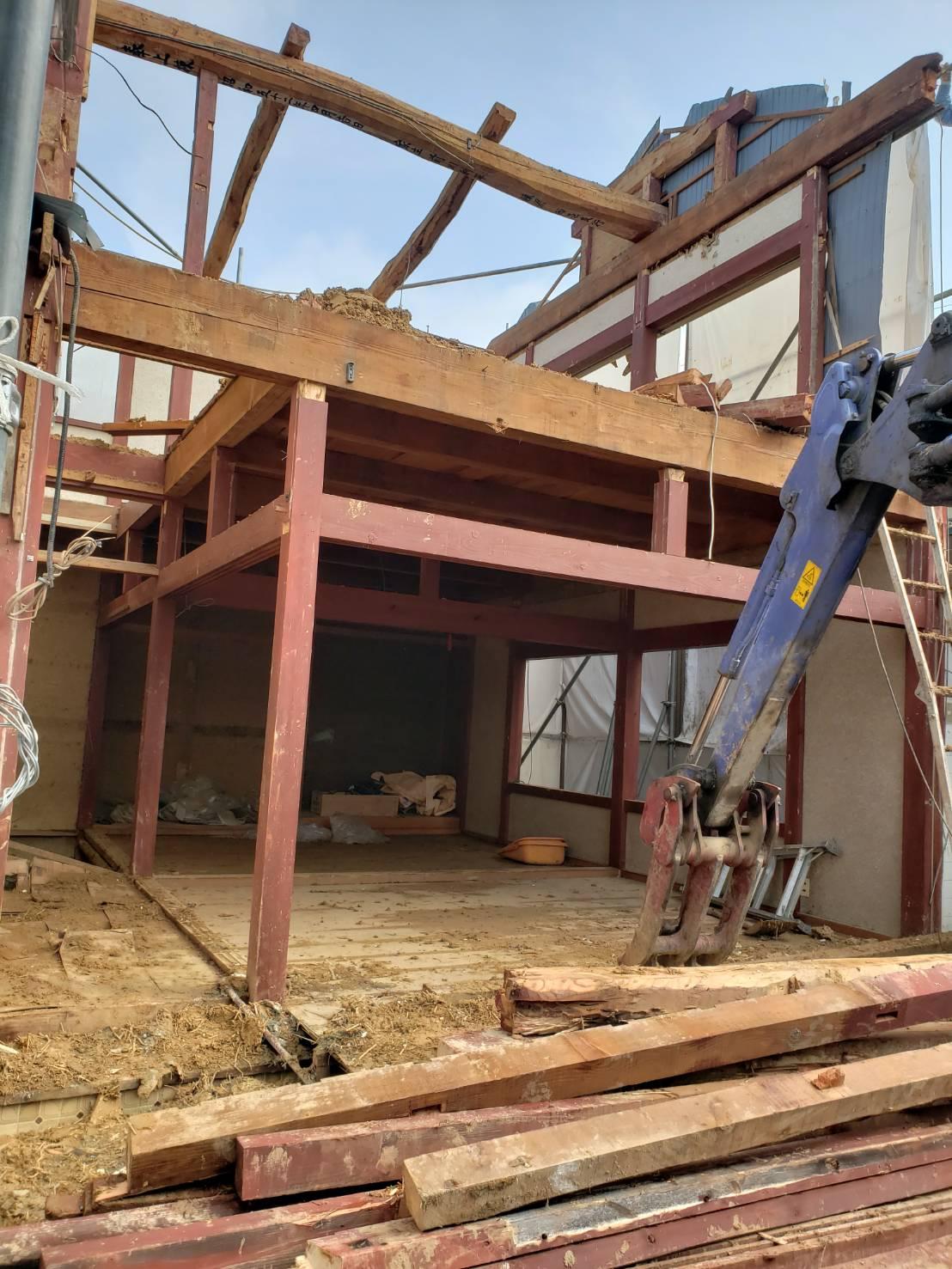 長浜市木造瓦葺2階建住宅解体工事