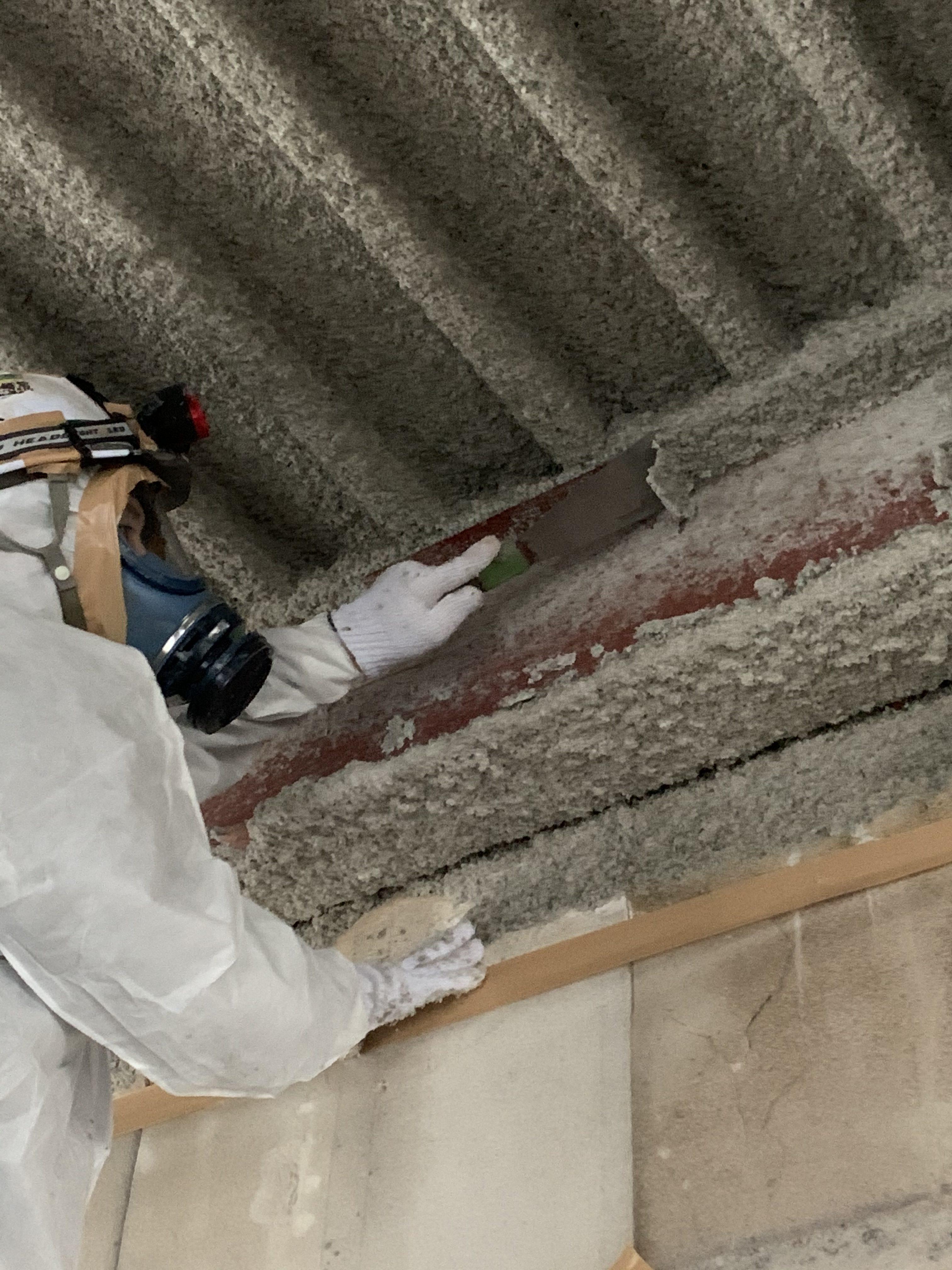 住宅解体工事の内 アスベスト除去工事【吹付】